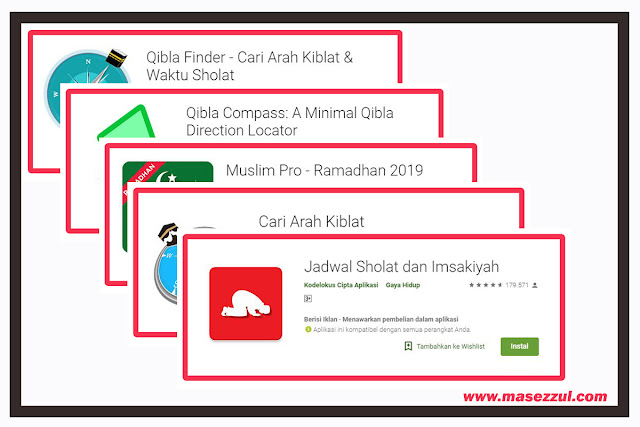 Aplikasi Penentu Arah Kiblat Android Paling Akurat 2019