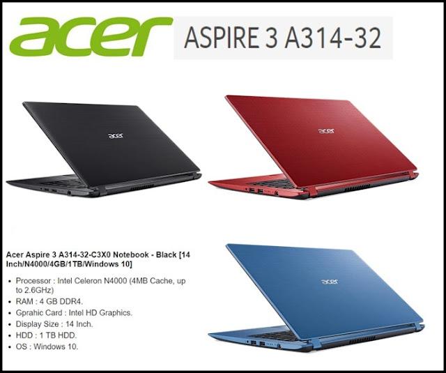 Laptop acer terbaik harga 3-4 jutaan untuk mahasiswa