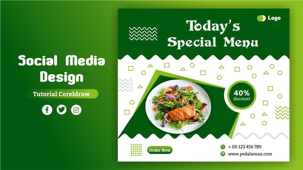 desain flyer menu makanan