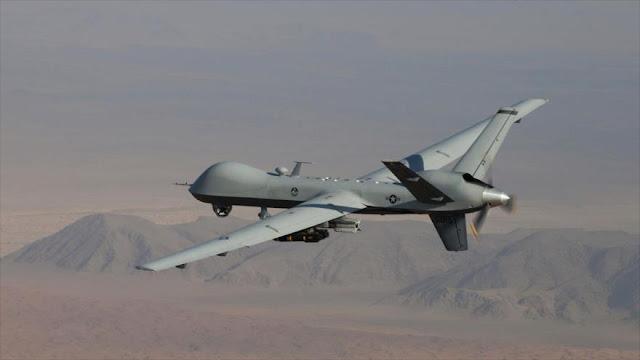 Un dron de EEUU se acerca a avión del ministro de Defensa de Rusia