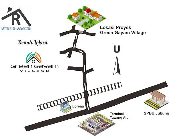 Peta Lokasi Green Gayam Village Jember