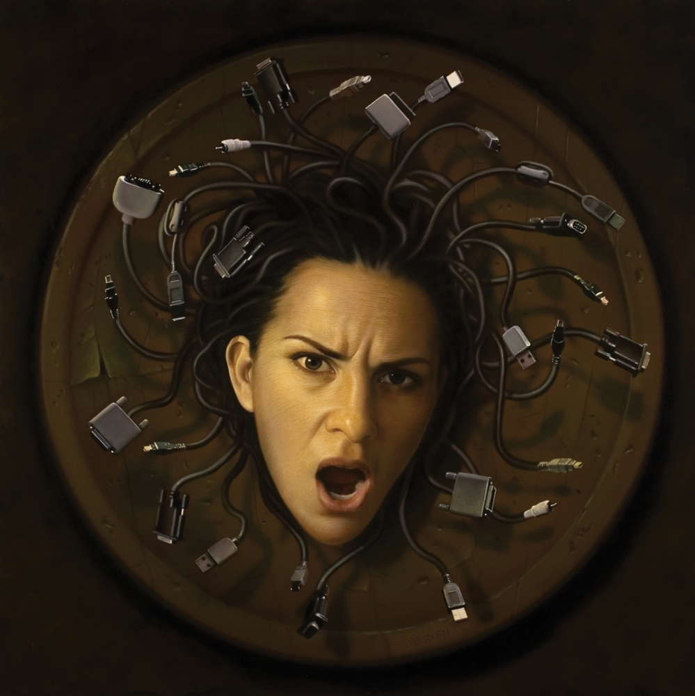 02-Medusa-of-Technology-My-Wife-Tim-O-Brien-Conceptual-Paintings-that-use-Art-to-Express-an-Idea-www-designstack-co