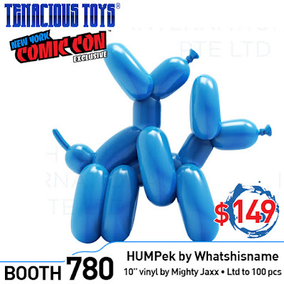 New York Comic Con 2018 Exclusive Blue HUMPeks Vinyl Figure by Whatshisname x Mighty Jaxx x Tenacious Toys