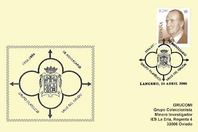 tarjeta, filatelia, matasellos, asociación, Valle del Nalón, Exfiastur