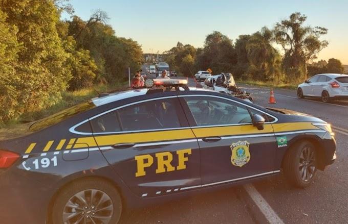 Chopinzinho: Acidente envolvendo três veículos deixa um morto e três feridos na BR-373