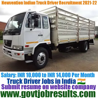 Newvention Indian Truck Driver Recruitment 2021-22