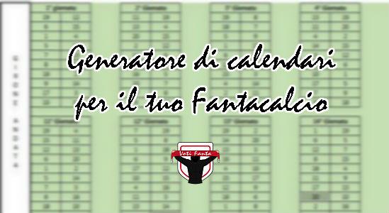 Genera Calendario Calcio.Strumenti Per Il Fantacalcio Il Generatore Di Calendari Per