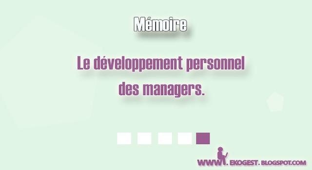Le développement personnel des managers
