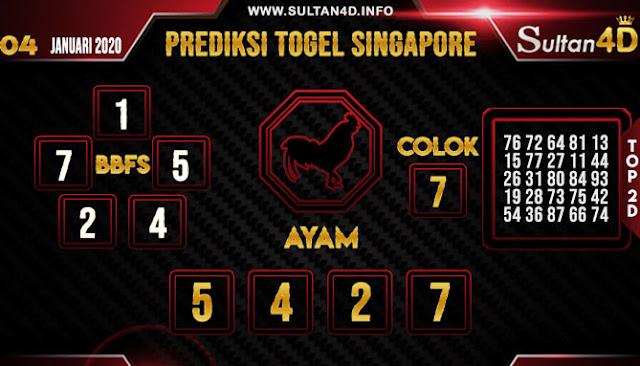 PREDIKSI TOGEL SINGAPORE SULTAN4D 04 JANUARI 2020