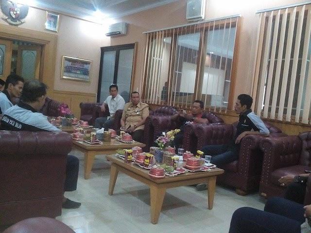 Ketua DPRD Wajo Terima Kunjungan Persatuan Bulutangkis Seluruh Indonesia(PBSI)Cabang Wajo