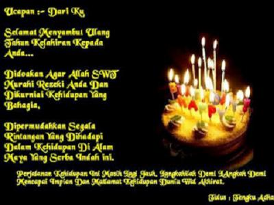 Doa Ucapan Selamat Ulang Tahun Islami | | Ucapan Pernikahan