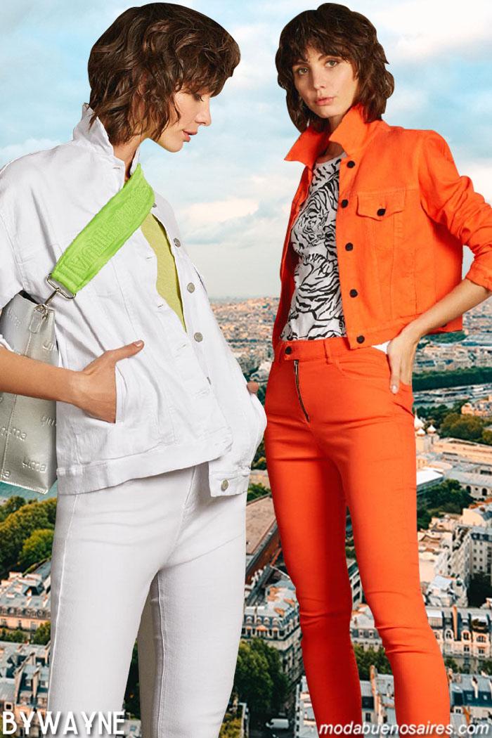 Camperas de jeans y chaquetas verano 2020 de mujer.