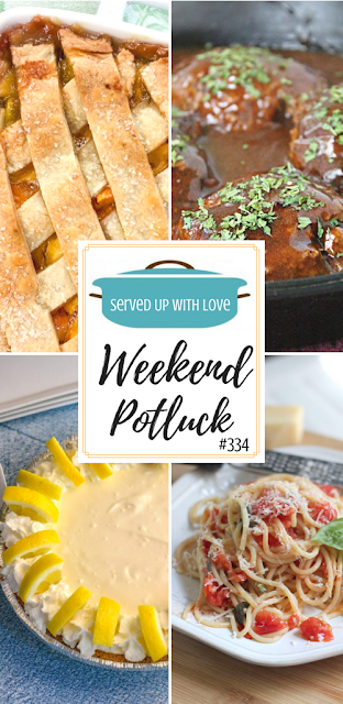 Fresh Peach Cobbler, Simple Salisbury Steak, No Bake Lemonade Pie, and Pasta with Fresh Tomatoes are featured recipes at Weekend Potluck over at Served Up With Love.