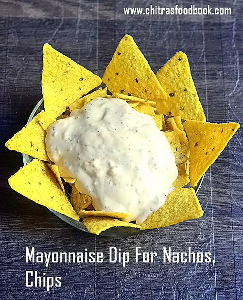Mayonnaise dip for chips and nachos