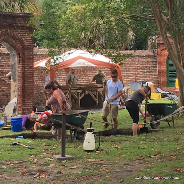 excavation at Aiken-Rhett House Museum in Charleston, South Carolina