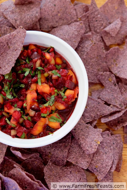 http://www.farmfreshfeasts.com/2015/07/cherry-peach-salsa.html