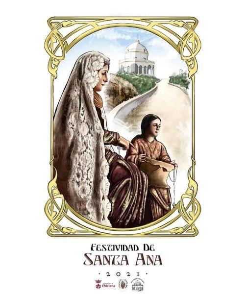 Cartel de la festividad de Santa Ana 2021 de Chiclana de la Frontera