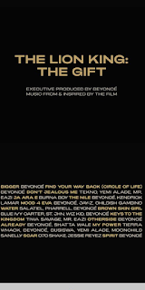 "Beyonce features Nigeria's finest artistes on lion king's new album titled ""the gift"""