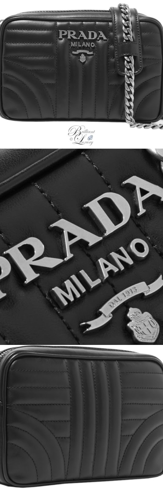 Brilliant Luxury ♦ Prada quilted leather camera bag