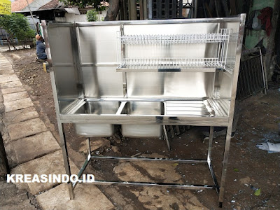 Daftar Harga Sink Stainless atau Cucian Stainless, Kitchen Set Stainless dan Kitchen Besi
