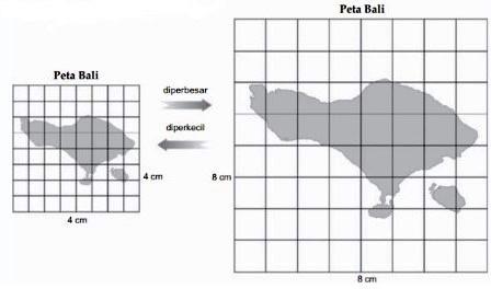 Contoh Cara Memperbesar dan Memperkecil Peta
