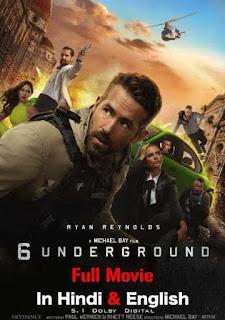 6 Underground (2019) Movie Download In Hindi Dual Audio 720p HDRip