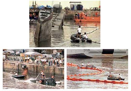 Submarino brasileño Tonelero hundido en Rio de Janeiro (Marihna Brasil).