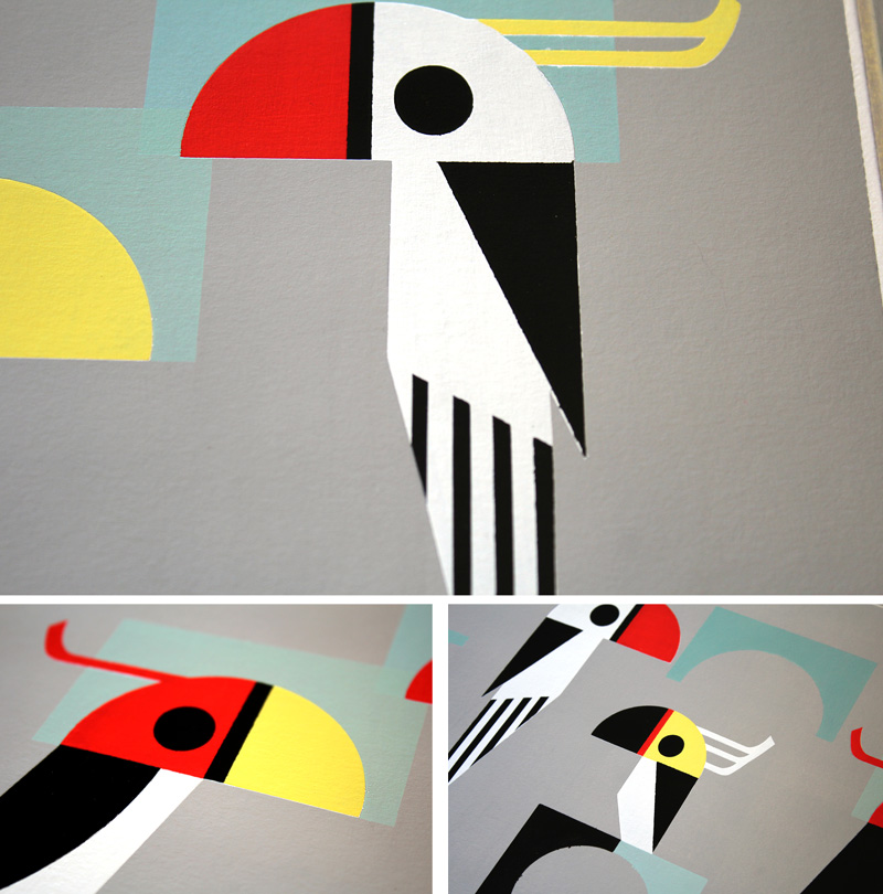 graphic design birds by Camille Epplin
