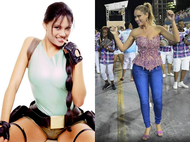 Ellen Roche lara croft model past today