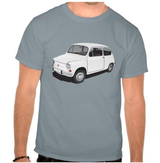 Classic Fiat 600 t-shirt white
