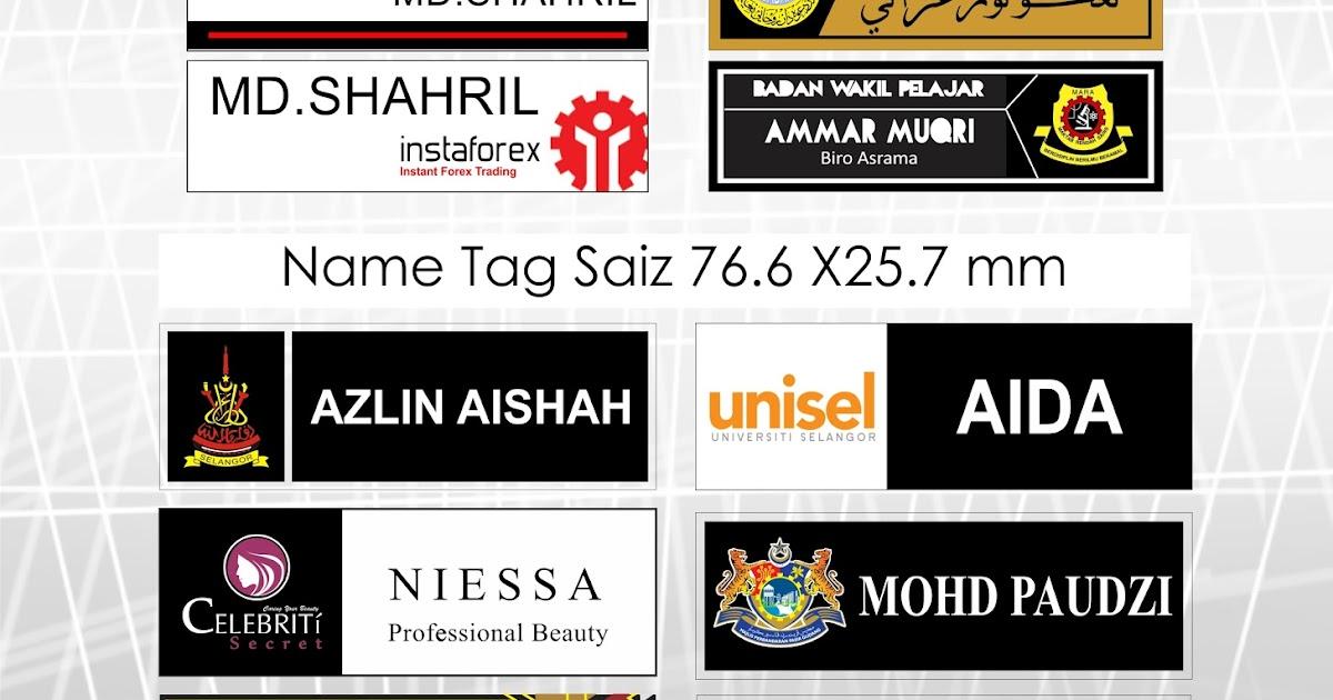 Name Tag Supplier Malaysia: Design Name Tag