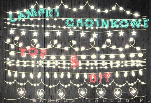 DIY: lampki choinkowe