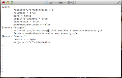 Site Git config file - username in URI.