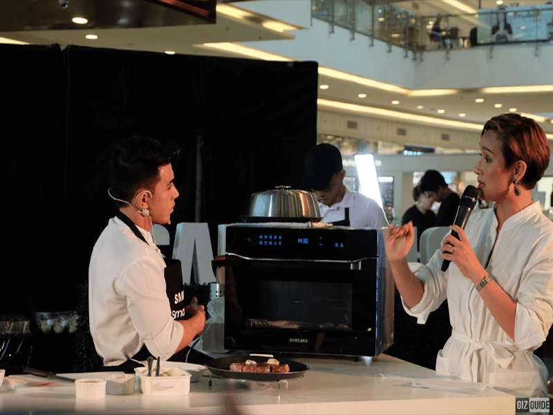 Samsung Philippines showcased the 6-in-1 Smart oven in a pop-up kitchen