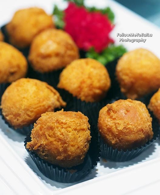 Batter Fried Nian Gao With Sweet Potato