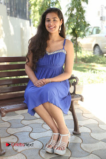 Actress Prasanna Stills in Blue Short Dress at Inkenti Nuvve Cheppu Movie Platinum Disc Function  0170.JPG