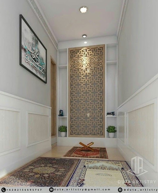 prayer area in living room