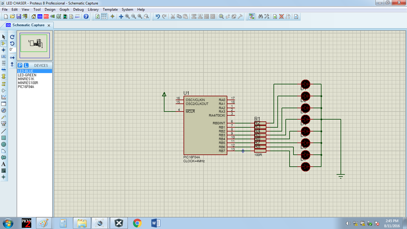 Module 6 Led Chaser Circuit On 3 Diagram