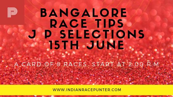 Bangalore Race Tips 15th June