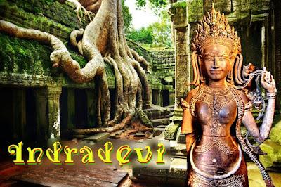 La reina jemer Indradevi vivió en la época dorada del imperio de Angkor. Durante el reinado de su esposo Jayavarman VII se ejecutaron la mayor parte de las construcciones más importantes de la ciudad.