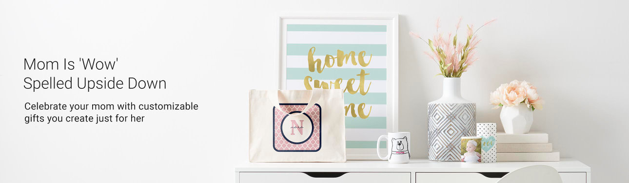 Mom Is 'Wow' Spelled Upside Down - Celebrate your mom with customizable gifts you create just for her