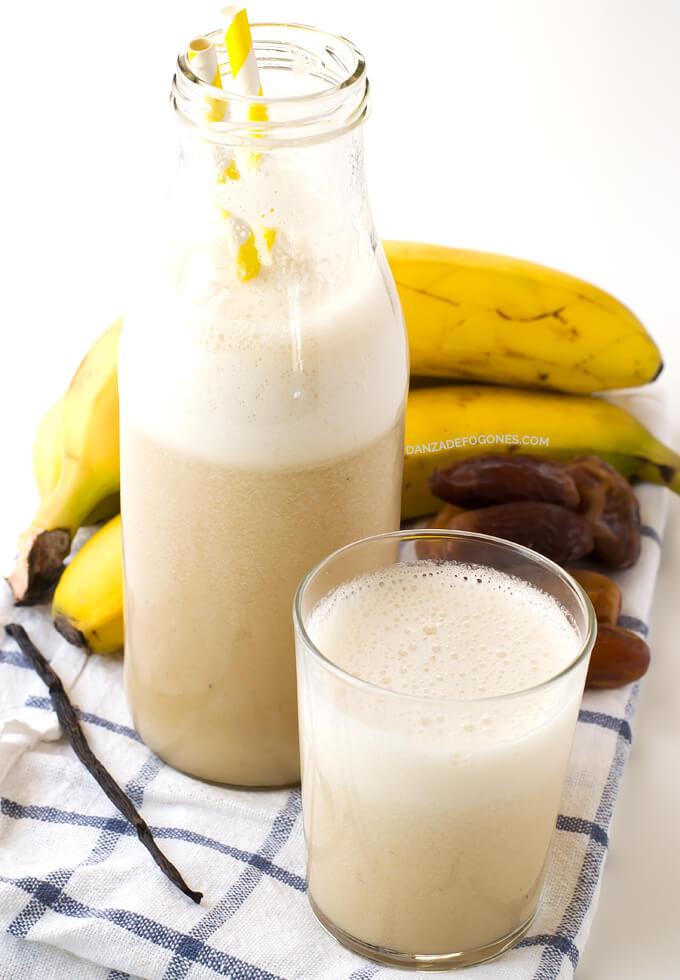 Banana Milk   danceofstoves.com #DanceofStoves #vegan #withoutgluten #recipe
