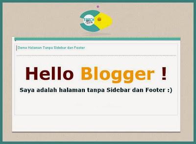 halaman demo yang hanya menampilkan isi dari hasil tutorial yang dibahas di sebuah situs w Cara Membuat Halaman Blog Tanpa Sidebar dan Footer