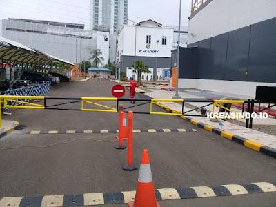 Portal Besi pesanan Bpk Tana untuk PLTD Senayan Jakarta Selatan