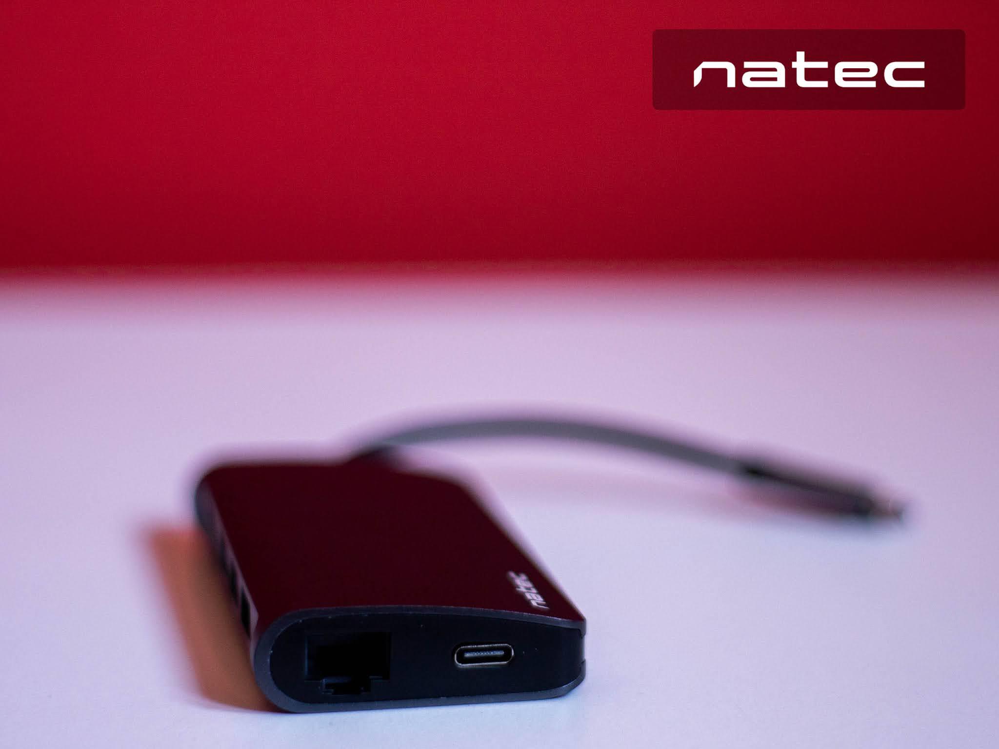Natec Fowler 2 port Ethernet i USBC