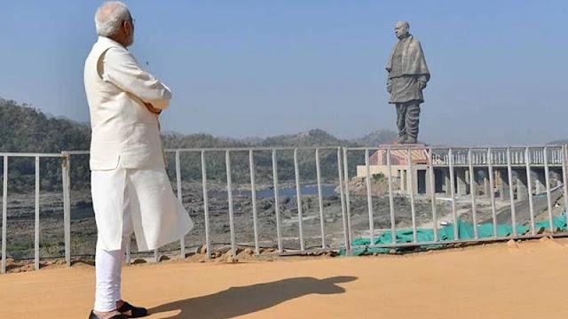 statue of unity and modi