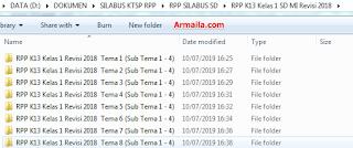 Download RPP Kurikulum 2013 SD/MI Revisi 2018 Kelas 1: Semua Tema & Pelajaran