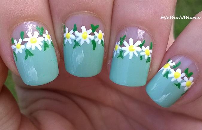 Life World Women Toothpick Daisy Nail Art