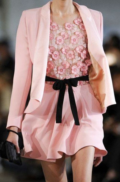 runway details: awesome pink outfit by Alexis Mebille S/S 2014