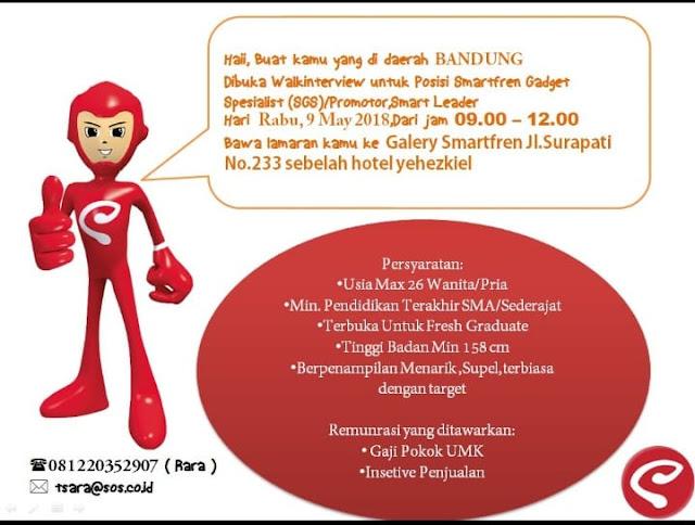 Lowongan Kerja Smartfren Bandung